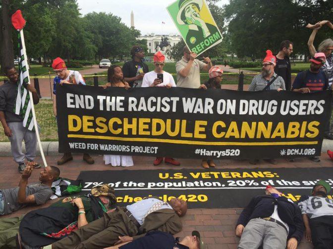 obama marijuana protest