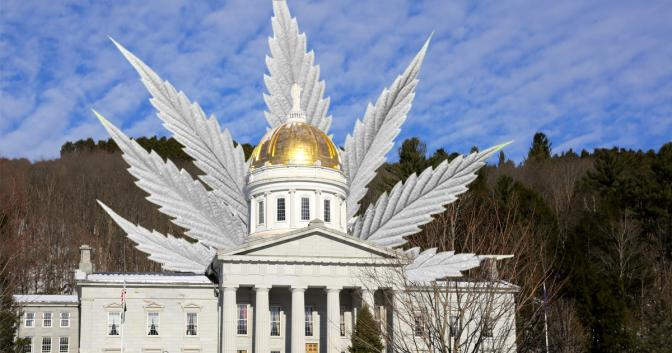 vermont captiol building freedom leaf cannabis marijuana leaf news magazine