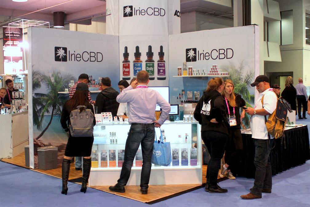 IrieCBD Booth at MJ BizCon